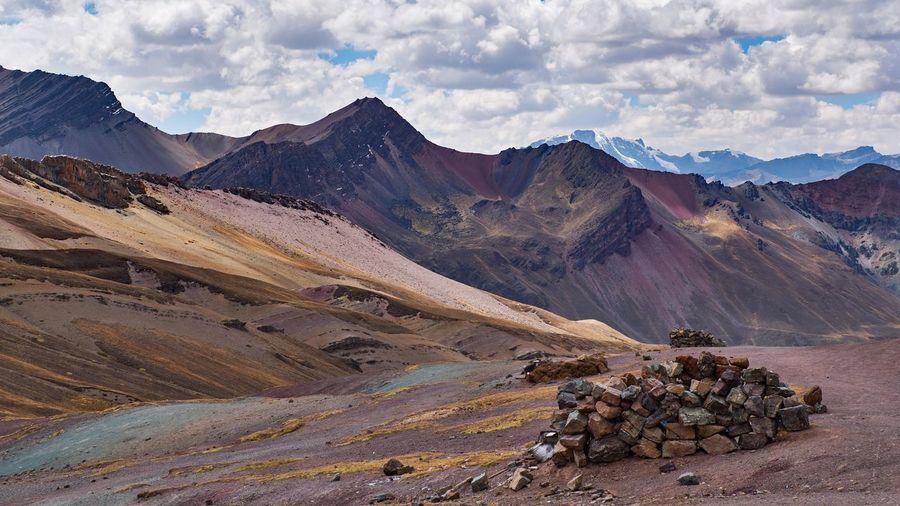 Rainbow mountain peru - montana winikunka 5036 m. the melting glaciers faded away in 2014.