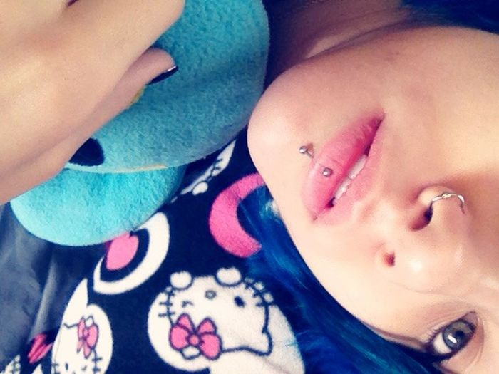 Self Portrait Selfie Lip Piercing (; Piercing Nose Piercing Ugly Doll Hello Kitty Goodmorning