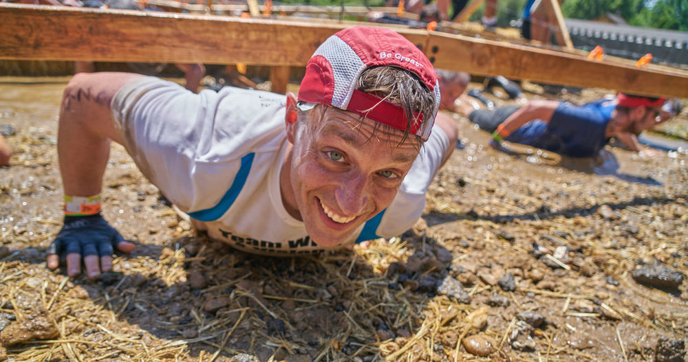 Barbed Wire Dirty Excercise Gauntlet Obstacle Course Photography Power Tough Mudder