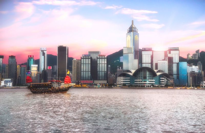 Another skyline view of the Hong Kong island from Victoria Harbour. Aqualuna Skyline Skyscreaper Tsim Sha Tsui Victoria Harbour China Hong Kong Skyline Hong Kong Harbour Hk Hong Kong Built Structure Architecture Building Exterior Office Building Exterior Building Skyscraper Sky