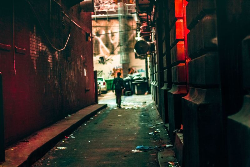 Down these mean streets Nickbuendophotography Phillystreetphotography City Alley Alleyway Man In Alley The Street Photographer - 2017 EyeEm Awards
