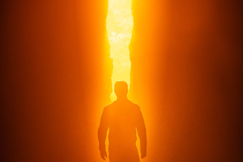 Lava Power In Nature Men Heat - Temperature Sunset Orange Color Exploding Danger Molten Furnace