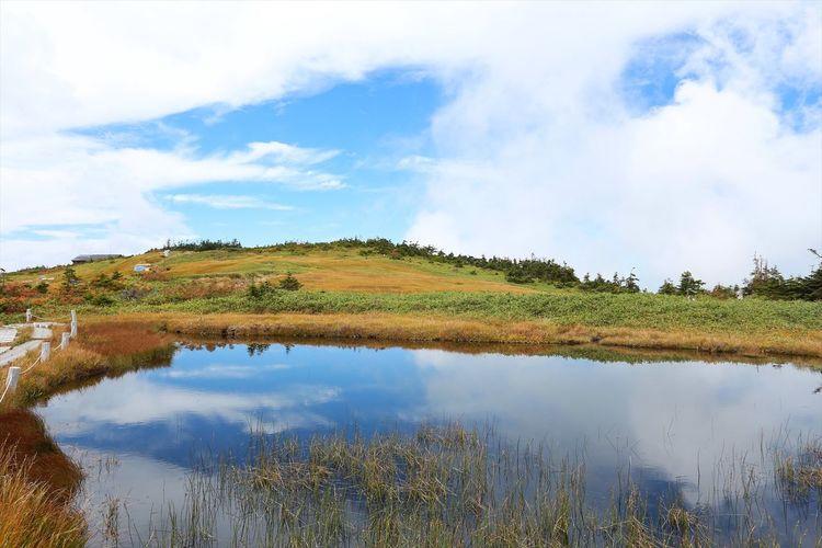 苗場山頂の湿原。 Landscape Nature Water Reflections Japan 雲上の楽園♪