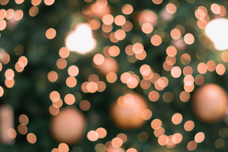 Defocused image of christmas decoration