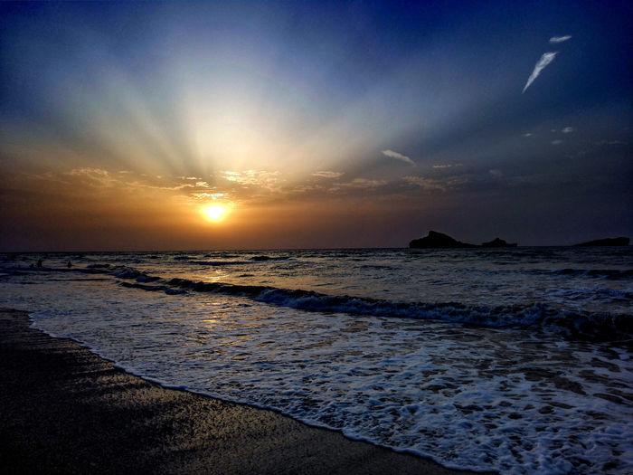 The Great Outdoors - 2016 EyeEm Awards Sunset Beach Sea And Sky Colorful AmazingShot Mobilephotography PhonePhotography Huawei Mate7 Sawadi Beach Muscat Oman Oman_photography Wanderlust Placestovisit Tourist Destination Naturelovers Horizon غروب_الشمس غروب_الشمس صورة عمان