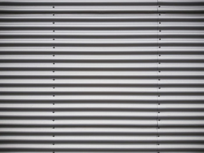 Abstract Aluminum Architecture Backgrounds Blinds Brushed Metal Close-up Corrugated Iron Day Indoors  Iron - Metal Metal No People Pattern Silver - Metal Silver Colored Steel Striped Textured