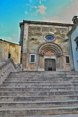 Architecture Building Exterior Built Structure Steps History Staircase Façade Outdoors Day No People Sky Church Abruzzo Pescocostanzo The Architect - 2017 EyeEm Awards