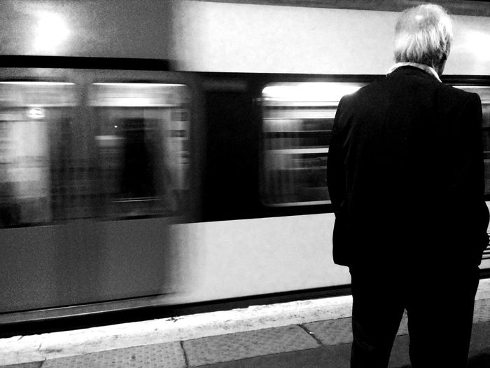 An old man waiting for its train Public Transportation Subway Commuting First Eyeem Photo
