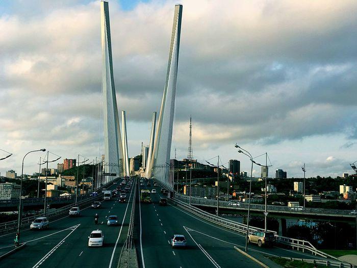 Good day my followers Weekday Bridge Gold Bridge Vladivostok