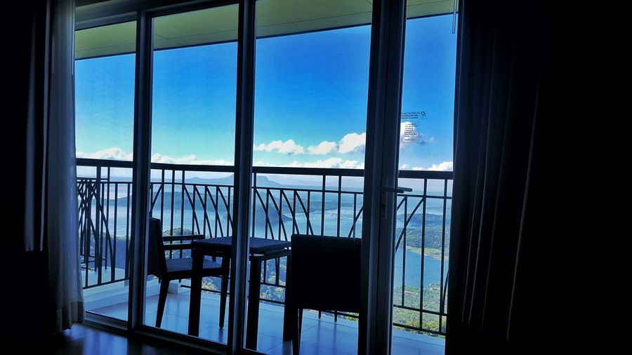 Waking up with this view. Blue Cloud Cloud - Sky Curtain Day Geometric Shape Glass - Material Nature No People Open Sky View From The Room Window Window Frame Showcase July