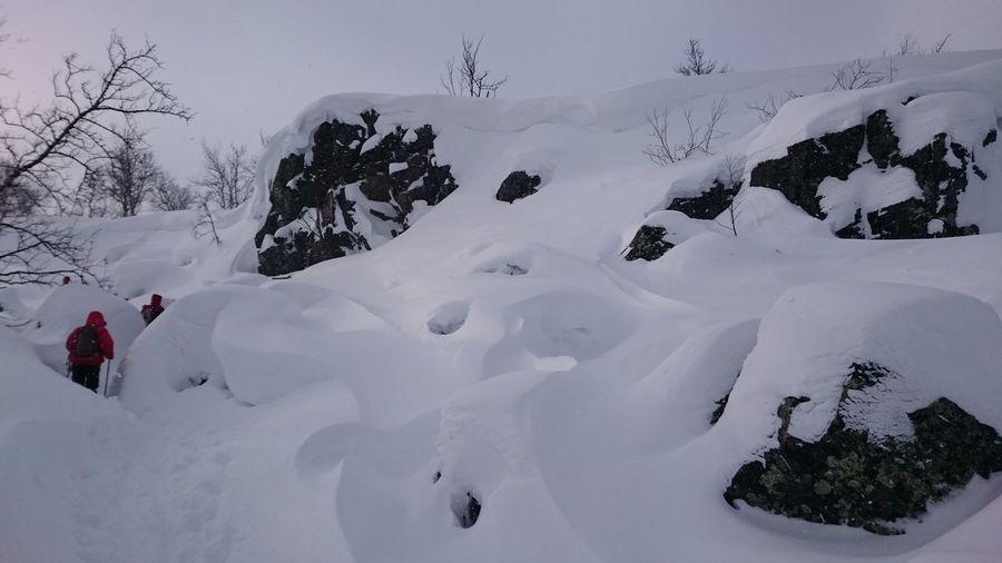 Up Hill Fluffy Snow Soft Light Ravine Natural Beauty Winter Winter Wonderland Saltoluokta