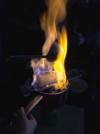 German Feuerzangenbowle People Together 43 Golden Moments Fire Drinking Rum Flame