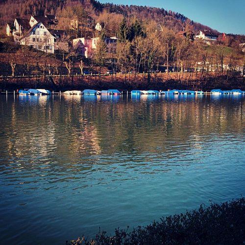 Eglisau Rheinufer Rhein Switzerland