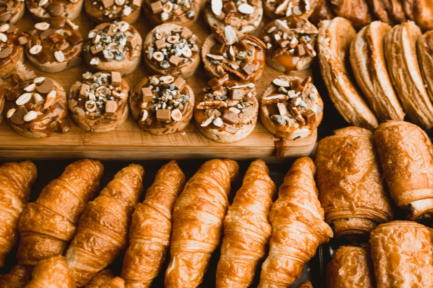 Boulangerie in Paris Dessert Fresh Baked Bakery Boulangerie Bread Close-up Day Food Food And Drink French French Food Freshness Full Frame Gold Colored Indoors  No People Ready-to-eat Sweet Food