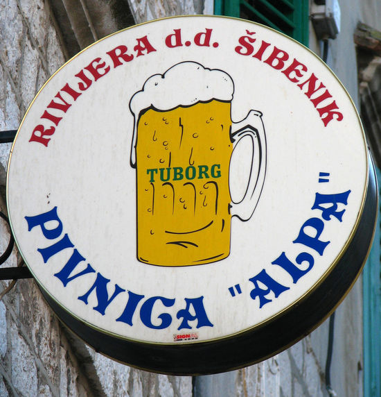 Croatia ❤ Lager Sign Wall Sign Close-up Communication Day No People Outdoors Text Tuborg Yellow