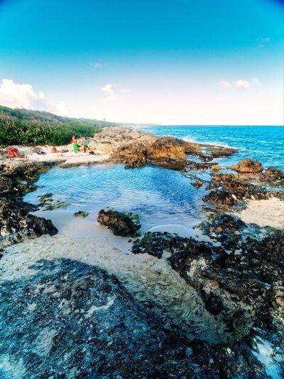 Island Sky Beach Caribbean Wideangle EyeEm Nature Lover Nature Blue Rock Daylight Outdoors Explore Summer Water Sea Beach Sand Clear Sky Blue Sky Horizon Over Water Wave Coast Sandy Beach Seashore Seascape Ocean