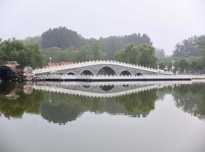 China Beauty China Photos Chinese Bridge Architecture Bridge Bridge - Man Made Structure Building Exterior Built Structure China China Culture Chinese Culture Clear Sky Connection Day Hancunhe Village Nature No People Outdoors Reflection River Sky Transportation Tree Water Waterfront