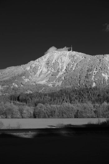 Infrared view on the Grünten mountain Infrared Beauty In Nature Cold Temperature Infrared Photo Infrared Photography Infrarot Lake Landscape Mountain Mountain Range Nature Night No People Outdoors Physical Geography Scenics Sky Snow Tranquil Scene Tranquility Water Winter