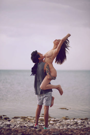 Couple Love Beach Beachphotography Body Part Girls Horizon Over Water Lgbt Naked_art Nature Nude_model Sea Sky Water Young Adult Love Is Love