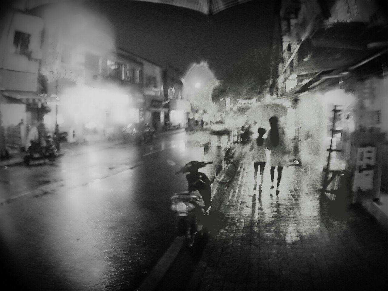 WET STREET IN RAINY SEASON