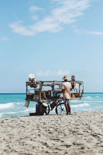 🏝 Trade place Travel Cuba Varadero Sea Beach Sky Sand Water Horizon Over Water Cloud - Sky Day Mode Of Transport Outdoors People Men Nature Beauty In Nature
