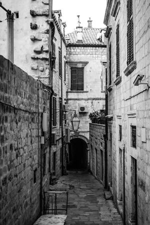 The stone alley Croatia Doors Travel Alley Architecture Blackandwhite Day Dubrovnik Explore Historical Center Oldcity Oldtown Outdoors Pavement Places Shadows Stone Town Tunnel Walls Window