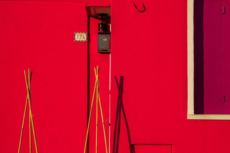 Burano Red Wall