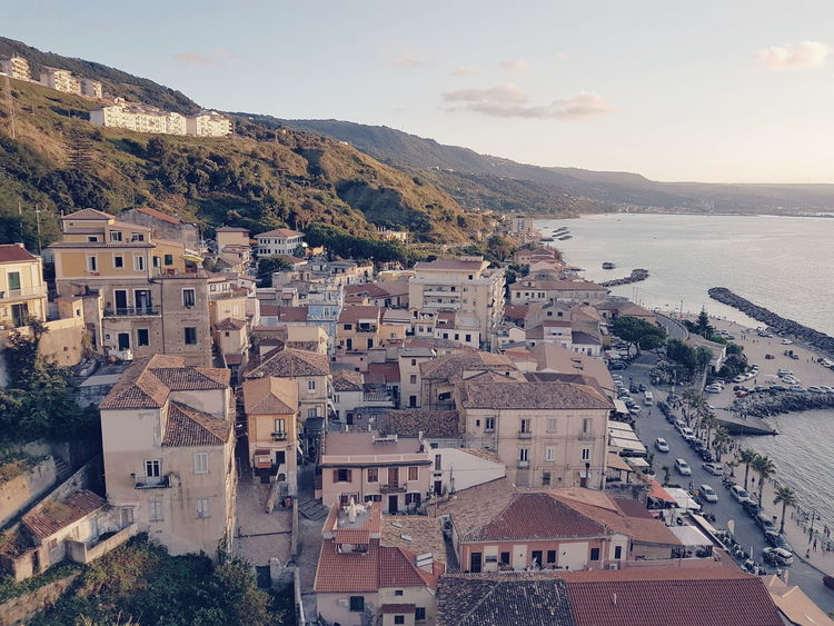 EyeEm Selects Pizzo Calabro Sea Mountain Beach Travel Destinations Town Cityscape Outdoors No People Vacations Sunset Building Exterior Day Sky Architecture City Water Nature Traveling Lifestyle Mare Spiaggia Calabria (Italy) Beach View
