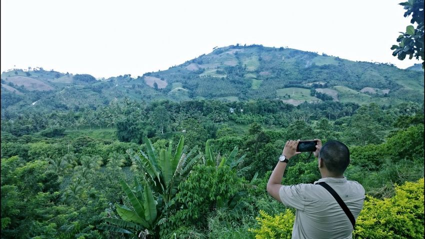 Adventure Backpack Beauty In Nature Casual Clothing Day Green Color Growth Hiking Hill Landscape Leisure Activity Lifestyles Mountain Mountain Range Nature Non-urban Scene Plant Remote Scenics Sky Tourist Tranquil Scene Tranquility Tree Valley
