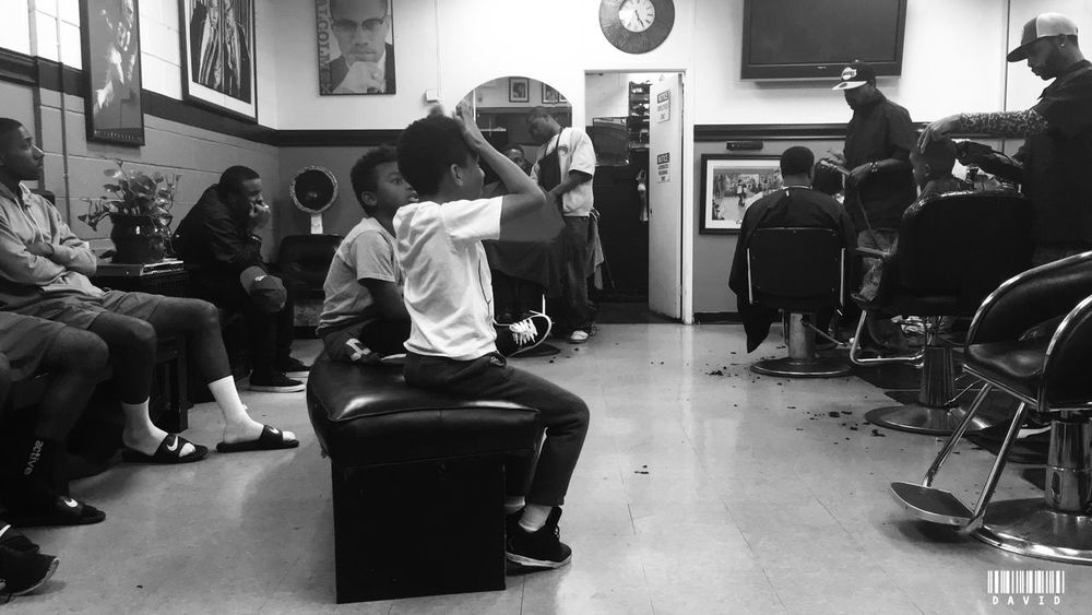 Pre Holiday Barbershop Crowd Haircut Barbershop Blackandwhite Black And White People Urbanphotography Urban