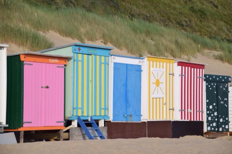 BeachHouse Beachphotography Beach Photography Beach Colorful Colors Hanging Out Dutch Landscape