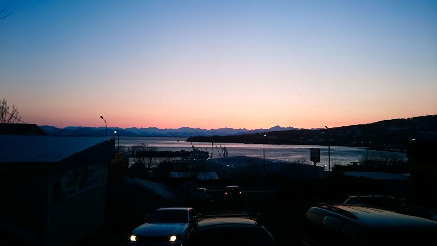 Очередной закат на Авачинской губой. Sunset Water Beauty In Nature Nature Night Sky Sea порт вода город камчатка бухта Петропавловск Камчатский., Залив Kamchatka. Авача берег Сероглазка Закат City