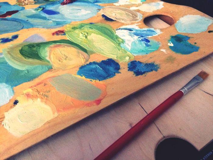 краски  живопись маслом кисть