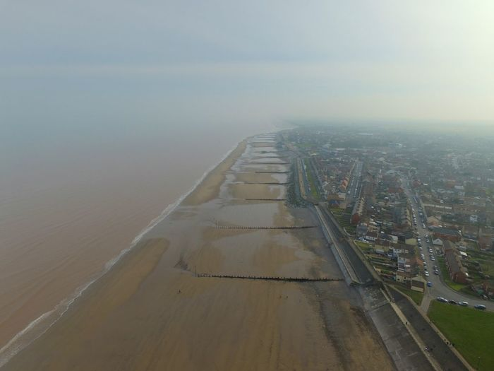 Withernsea Drone  Dronephotography Beach Sky From The Air Altitude East Yorkshire Seaside Looking Down