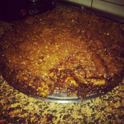 Minha torta de banana do Restaurante Cachoeira Tropical!!! Não ficou tão delicioso igual o deles mas dá pra enganar..rs