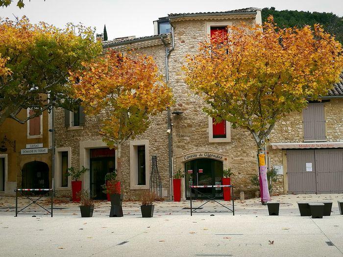 Gidondas un jour l'automne !! Outdoors Day Building Exterior Architecture Tree Built Structure No People City Sky