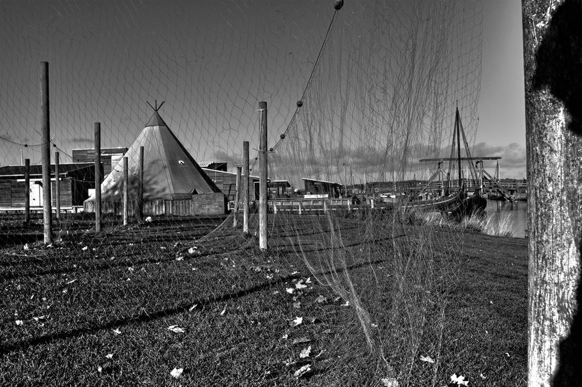 fishing nets Beach Black & White Black And White Blackandwhite Day Drying Fishing Net Drying Net Drying Nets Fishing Net Fishing Nets Net Nets Nets Camp Nets Field No People Outdoors Sky Swing