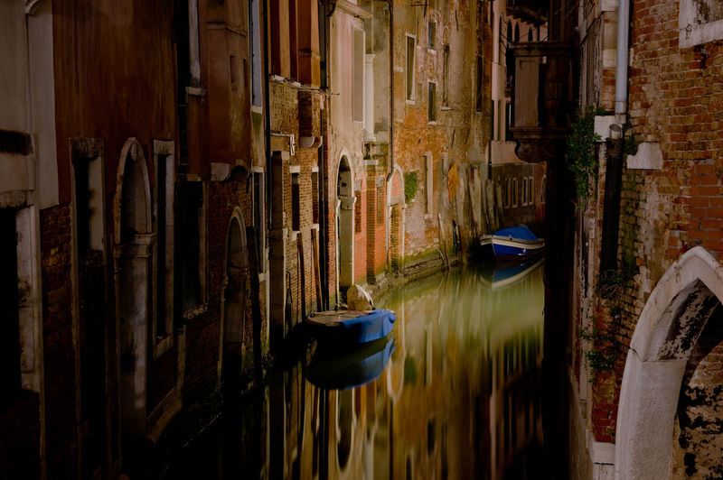Water Architecture Canal Built Structure No People Waterfront Travel Reflection Travel Destinations Building Exterior Venice, Italy Night Photography Tourist Destination Boats