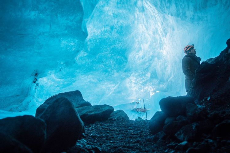 Iceland Memories Iceland_collection Iceland Formatt Hitech Sonyalpha Sony A6000 Adventure One Person Beauty In Nature Glacier Cold Temperature Ice Cave Iceland Trip