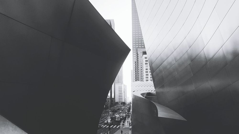 Architecture City Building Exterior Modern Built Structure Los Angeles, California DowntownLA Downtown USA Bnwphotography EyeEmNewHere Downtown Los Angeles Architecture Concerthall Waltdisneyconcerthall Adventures In The City