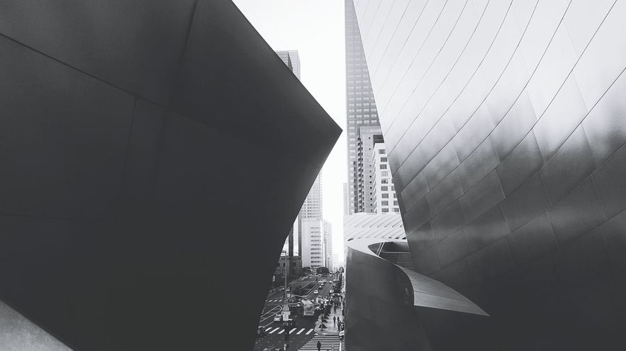 Architecture City Building Exterior Modern Built Structure Los Angeles, California DowntownLA Downtown USA Bnwphotography EyeEmNewHere Downtown Los Angeles Architecture Concerthall Adventures In The City A New Perspective On Life Holiday Moments
