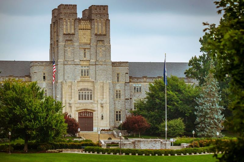 Architecture Blacksburg Virginia Tech HOKIES No People Tree Outdoors Hokie Stone Day Building Exterior Campus College