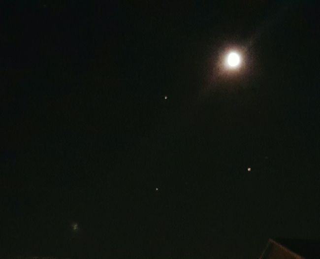 The moon and other celestial bodies. Urban Nightsky Planetary Moon