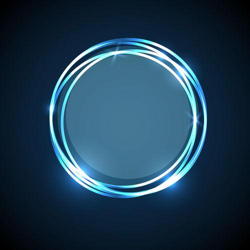 Close-up of blue light over black background