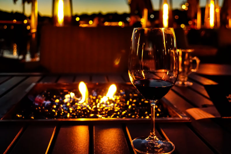 Glass of wine,