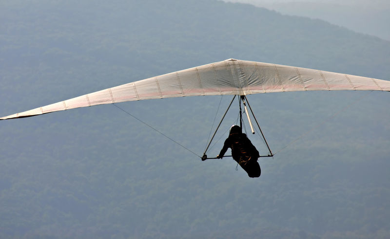 Day Fly Hang Glider Mid-air Mode Of Transport Outdoors Sky Soar