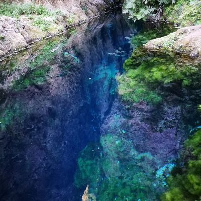 Aria e acqua High Angle View Water Day Multi Colored Outdoors No People Oil Spill Nature Close-up