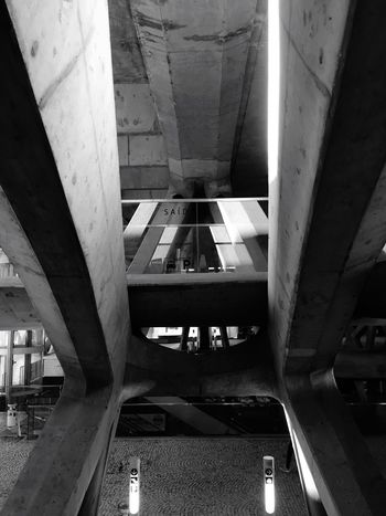 Transportation Built Structure Architecture Travel Connection Bridge - Man Made Structure Indoors  Day No People Monochromatic Black And White Black & White Blackandwhite Black And White Photography Blackandwhite Photography Iphonephotography IPhone Photography Monochrome Photography Black And White Collection  Blackandwhitephotography IPhoneography Monochrome Portugal Train Station
