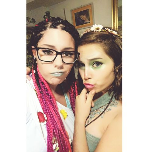 Only Women One Woman Only Adults Only Eyeglasses  One Young Woman Only Young Adult One Person Adult Old-fashioned Portrait People Headshot Indoors  Human Body Part Young Women Beauty Red Lipstick Day Makeup Make Magic Happen Make-up Piercing Tattoo Ninfa Hada