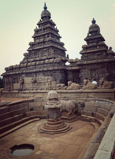 Architectural Feature Tourism Mahabalipuram, India Heritage Site Stone Temple South Indian Temple Architecture 7th Century